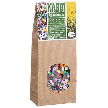 Nabbi® Bio Bügelperlen, 2.000 Stück, bunt