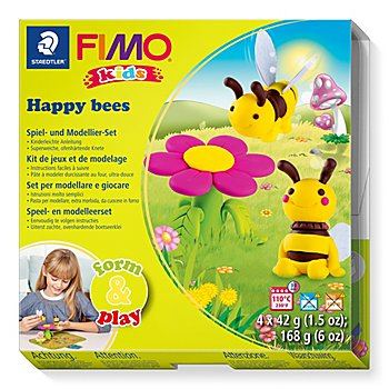 Fimo kids form & play - Kit créatif 'abeilles'