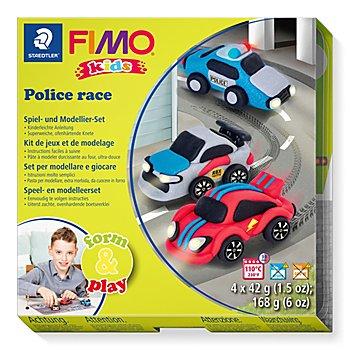 Fimo kids form & play Autos 'Police race'