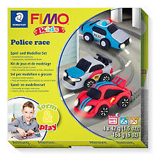 Fimo kids form & play Autos 'Police race'