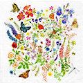 """Serviettes en papier """"pré fleuri"""", 33 x 33 cm, 20 pièces"""