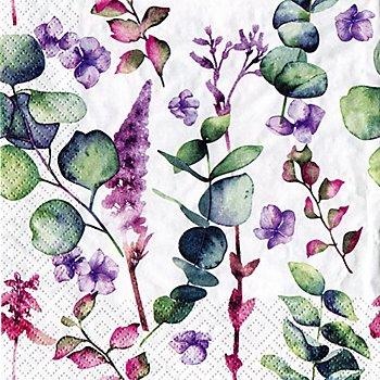 Papierservietten 'Eukalyptus', 33 x 33 cm, 20 Stück