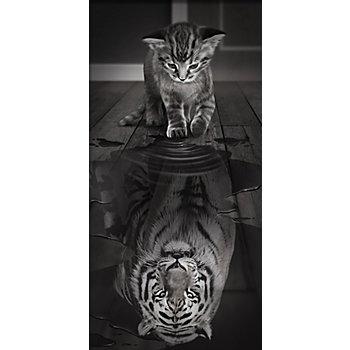 Kit broderie diamant 'petit tigre', 30 x 60 cm
