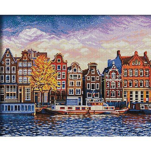 """Image of Diamantenstickerei-Set """"Amsterdam"""", 50 x 40 cm"""
