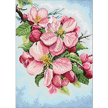 Diamantstickerei-Set 'Apfelblüte', 27 x 38 cm