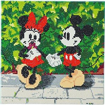 Diamantenstickerei-Set 'Mickey und Minnie', 30 x 30 cm