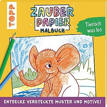 Malbuch 'Zauberpapier - Tierisch was los'