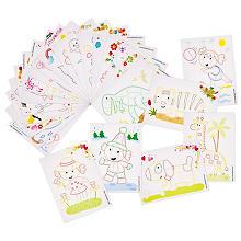 PlayMais® Karten-Set, 24 Stück, farbig