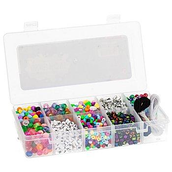 Perles en plastique avec boîte de rangement, 1900 pièces