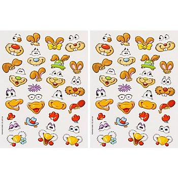 Stickers pour œufs de Pâques 'animaux', 70 pièces