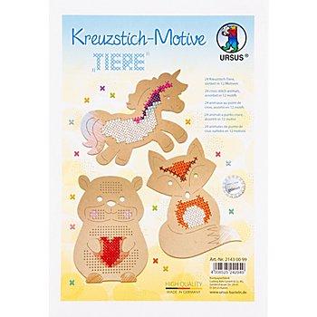 Ursus Kreuzstick- Motive 'Tiere', 12 Motive