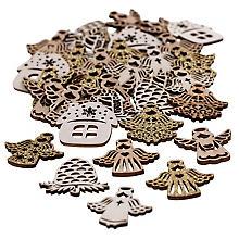 Streuteile 'Weihnachten', mit Glitzer, 3,5–4 cm, 36 Stück