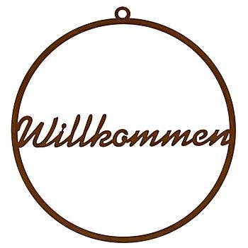 Rost-Ring 'Willkommen',  35 cm Ø