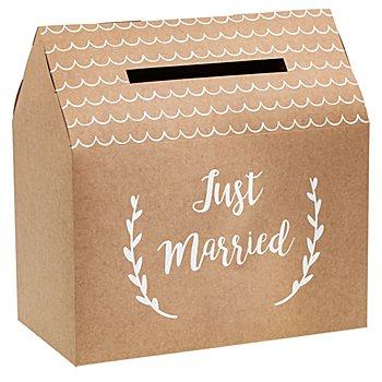 Kartenbox 'Just Married', 30 x 30,5 x 16,5 cm