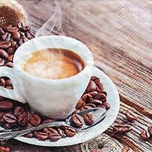 Serviettes en papier 'café', 33 x 33 cm, 20 pièces