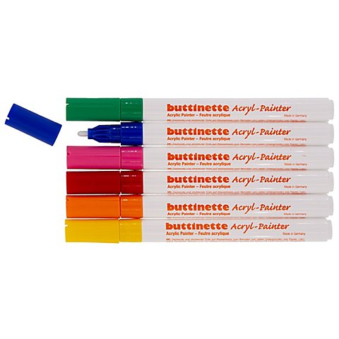 Image of buttinette Acryl-Painter Grundfarben-Set, Stärke: 2 mm