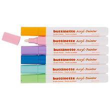 buttinette Marqueurs acryliques, tons pastel, épaisseurs : 4 mm / 1–5 mm