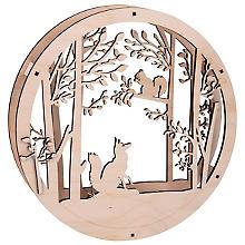 Holzkranz 'Wald', 30 cm Ø