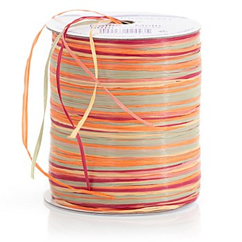 Raffia-Bast Multi 50 m, orange/rot