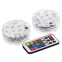 Lampes LED maxi, couleurs changeantes, 2 pièces
