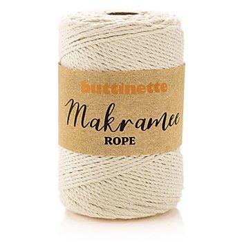 buttinette Makramee-Garn 'Rope', natur, 3-fach verzwirnt, Stärke: 3 mm, Länge: 150 m