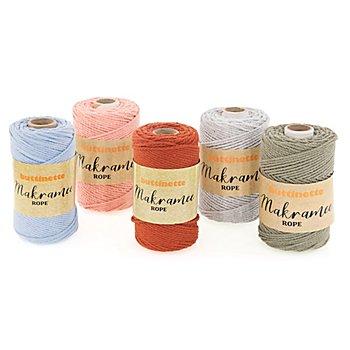 buttinette Makramee-Garn 'Rope', 3-fach verzwirnt, Stärke: 3 mm, Länge: 100 m