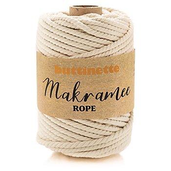 buttinette Makramee-Garn 'Rope', natur, 3-fach verzwirnt, Stärke: 5 mm, Länge: 55 m