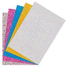 Glitter-Karton, 17,4 x 24,5 cm, 5 Blatt