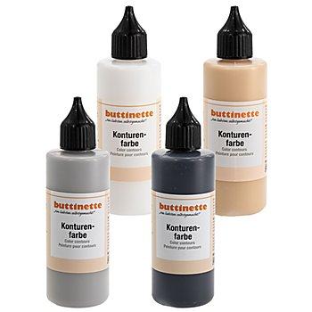 buttinette Konturenfarbe, in verschiedenen Farbtönen, 85 ml