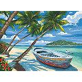 """Malen nach Zahlen mit Acrylfarben """"Palmen am Strand"""", 39 x 30 cm"""