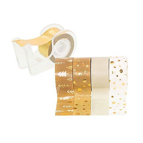 Image of Deko-Tape-Mini, braun-gold, 12 mm, 15 m