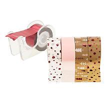 Deko-Tape-Mini, braun-pink, 12 mm, 15 m