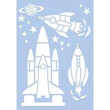 Schablone 'Space', 21 x 29,7 cm