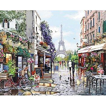 Malen nach Zahlen auf Leinwand ' Frühling in Paris', 40 x 50 cm