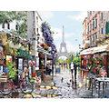 """Malen nach Zahlen auf Leinwand """" Frühling in Paris"""", 40 x 50 cm"""
