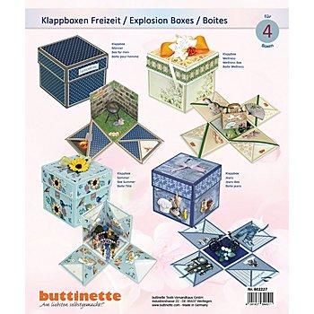 Explosionsbox-Bastelset 'Freizeit', 11 x 11 x 11 cm