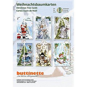 3D-Bastelmappe 'Weihnachtsbaumkarten 3'
