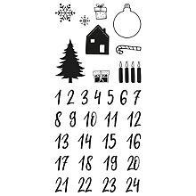 Tampons clear 'chiffres pour calendrier de l'Avent'