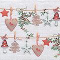 """Serviettes en papier """"guirlande de Noël"""", 33 x 33 cm, 20 pièces"""