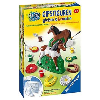 Bastel-Set Gipsfiguren gießen & bemalen 'Pferd'