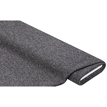 Mantelstoff 'Peter' aus reiner Wolle, grau-melange