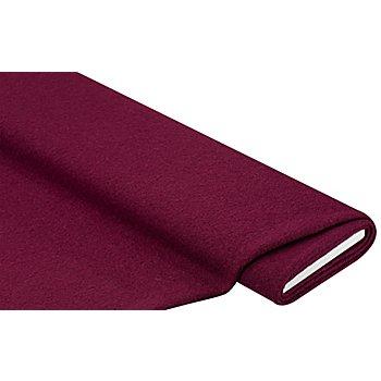 Mantelstoff 'Peter' aus reiner Wolle, weinrot