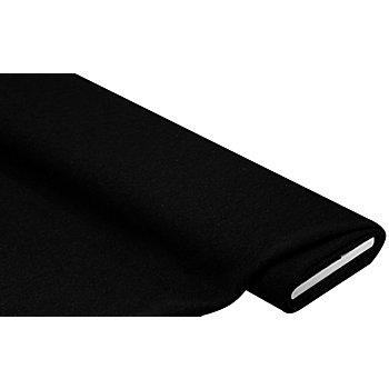 Mantelstoff 'Peter' aus reiner Wolle, schwarz