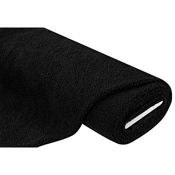Tissu imitation fourrure d'agneau, noir