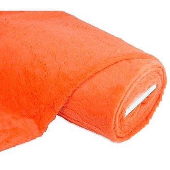 Tissu peluche, orange