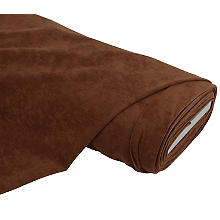 Tissu velouté 'aspect daim', marron