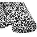 "Tissu imitation fourrure ""dalmatiens"", noir/blanc"