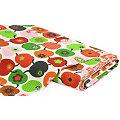 """Tissu coton """"Pommes rétro"""", rouge/vert"""