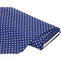 "Tissu coton à pois ""Mona"", bleu marine/blanc, 5 mm Ø"