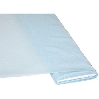 Tissu voile uni, bleu clair